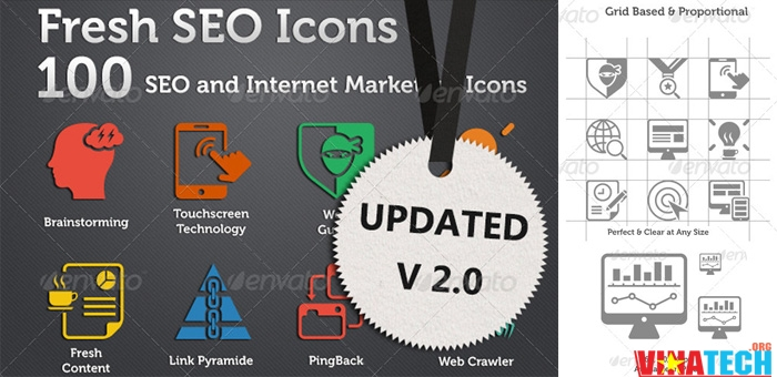 share bộ icon SEO và Internet Marketing