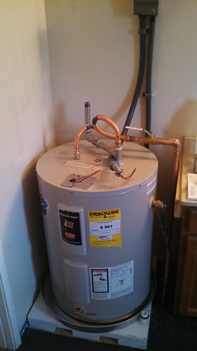 Water Heater Nears Completion