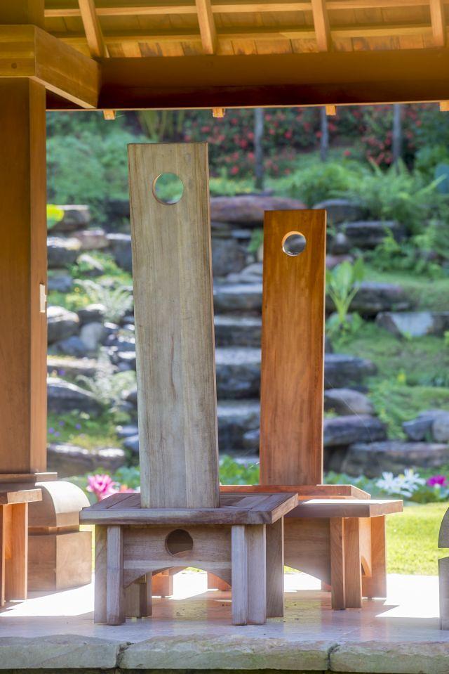Custom designed Pagoda Furniture designed by Landcraft Environments Ltd.