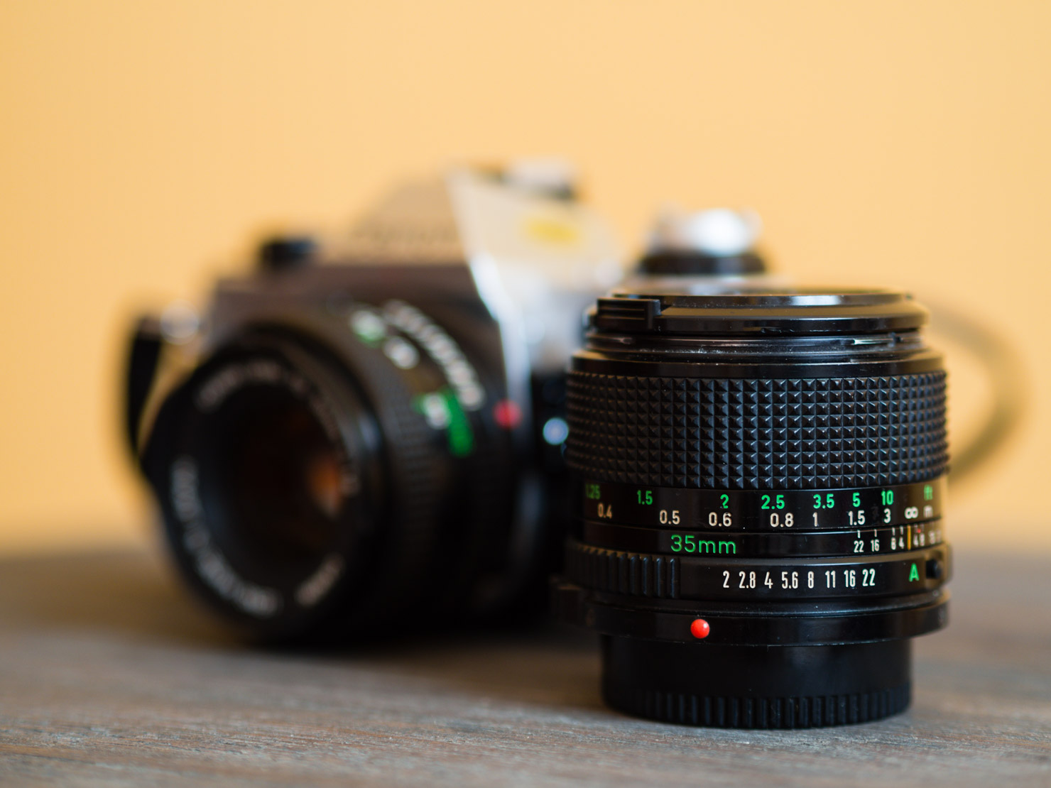 All Canon FD lenses have manual ...