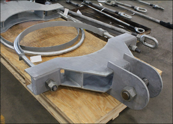 Heavy Duty Yoke U-Bolt Pipe Clamps Designed for a Pipeline in Canada