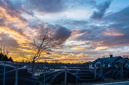 sunset sky clouds rural landscape junk unitedstates january northcarolina catawba 2015 murraysmill catawbacounty