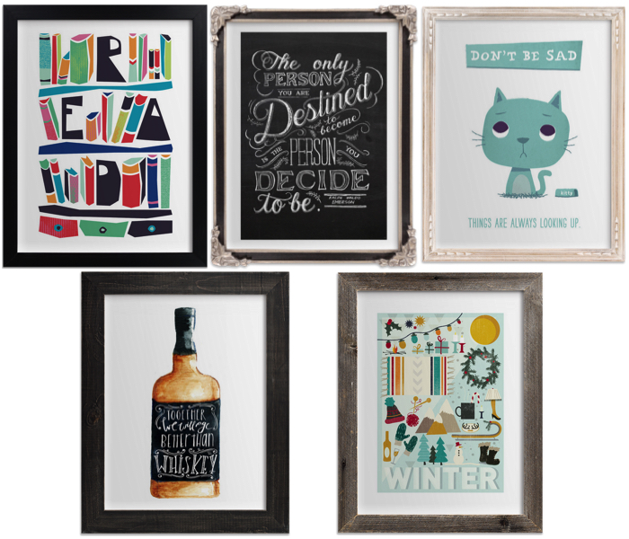 Minted Typography Prints | cookingalamel.com