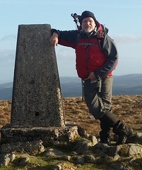 Me at the trig on Cosdon Hill