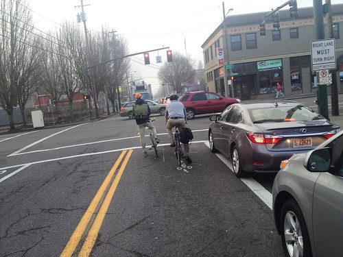 New bikeway on NE 7th in Lloyd district-2