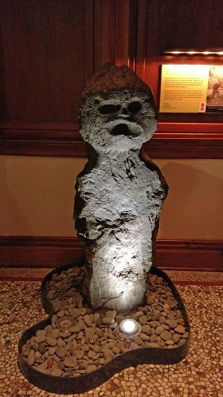 Bishop Museum creepy statue 2