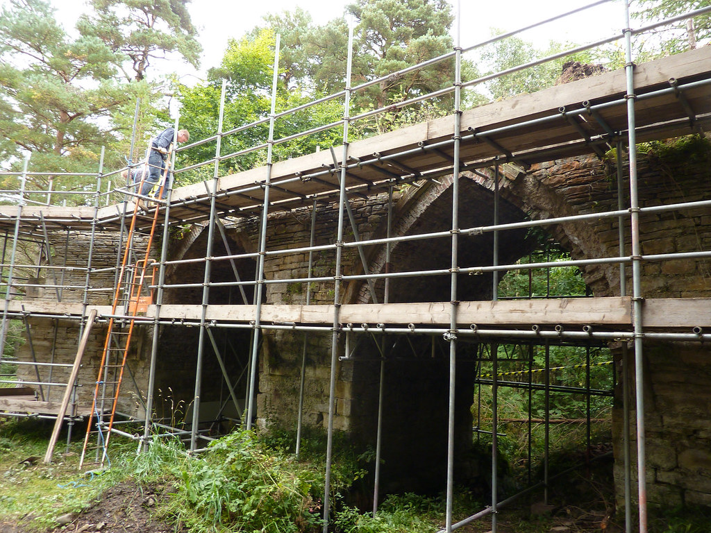 Scaffolding goes up