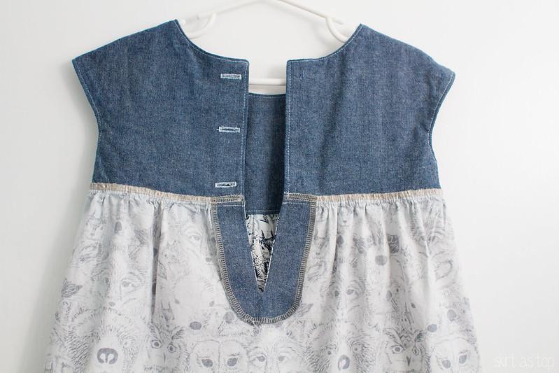 menagerie geranium dress // skirt as top