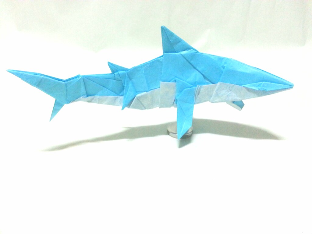 origamipete s favorite flickr photos  origami shark 45x45cm paper created by choi ju young yeong