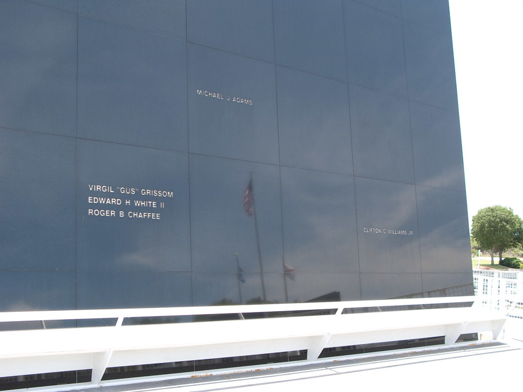 wall of remembrance at Kennedy Space Center