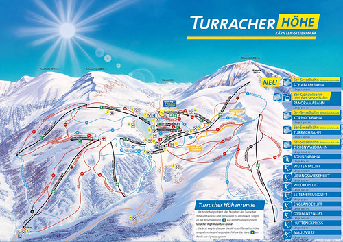 Turracher Höhe - mapa sjezdovek