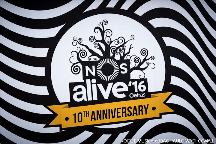 Apresentação Recinto NOS Alive '16