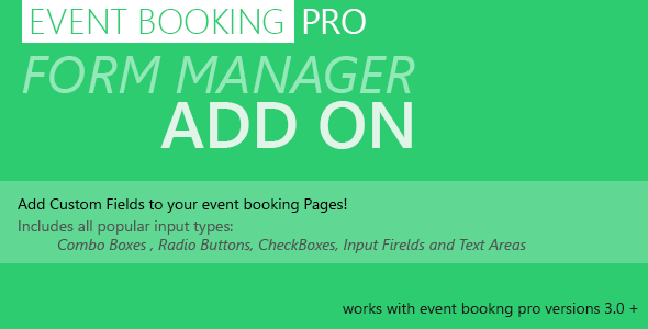 Event Booking Pro Add on: Forms Manager v1.97