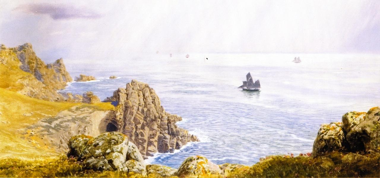 Summer Mists off Tol Pedn by John Edward Brett, A.R.A. - 1880