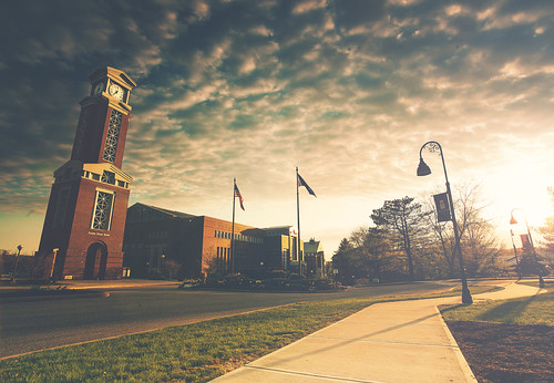 road light sunset summer sky sun college clouds canon campus university graduation wideangle sidewalk eastern graduating easternconnecticutstateuniversity graduatedfilter vsco 5dmarkii vscofilm jackwassell