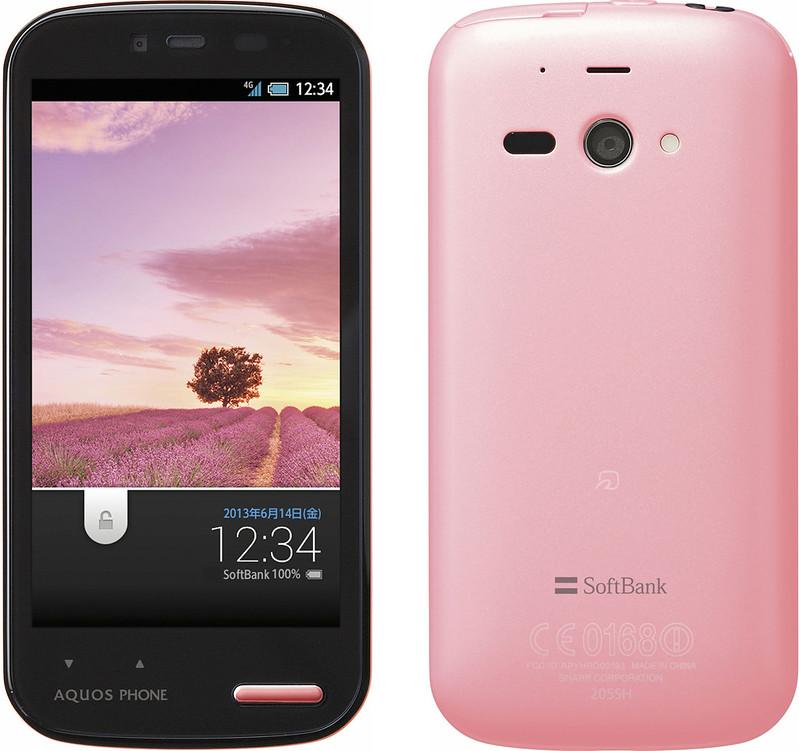 AQUOS PHONE ss 205SH 実物大の製品画像