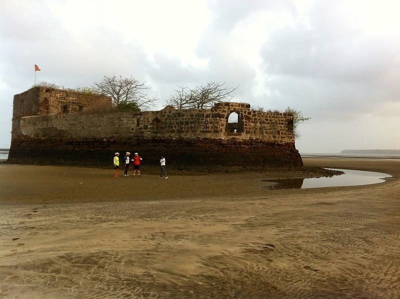 Cycling at Kelve Beach - Alibag Fort or PaanKot
