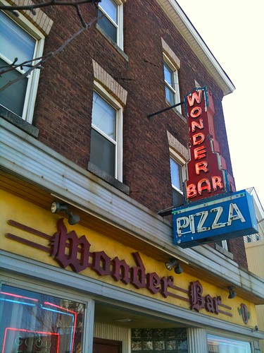 Wonder Bar Worcester MA Pizza Neon Sign