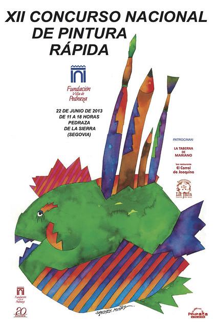 Cartel XII Concurso Nacional de Pintura Rápida