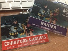 Double badges: Exhibitor and Ranter (Panelist)
