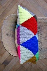 wood & wool harlequin pillow 022