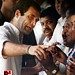 Congress workers greet Sonia Gandhi, Rahul Gandhi 04