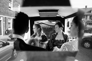 In een rijtuigie