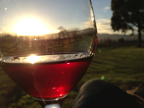 Cloudy Bay Mustang Pinot. Sunset.