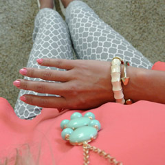 OOTD: pink, gray, and mint