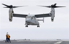 helicopter rotor(0.0), helicopter(0.0), sikorsky s-70(0.0), military helicopter(0.0), boeing vertol ch-46 sea knight(0.0), aircraft(1.0), tiltrotor(1.0), rotorcraft(1.0), bell boeing v-22 osprey(1.0), vehicle(1.0),