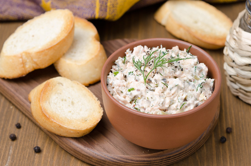 pate with fish and sour cream