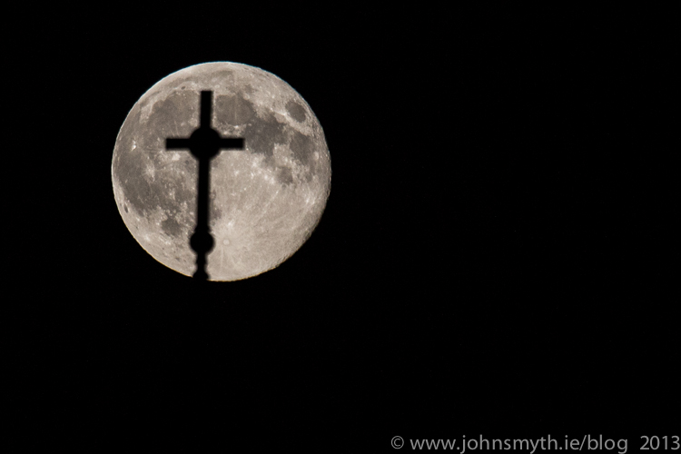 Supermoon over Galway