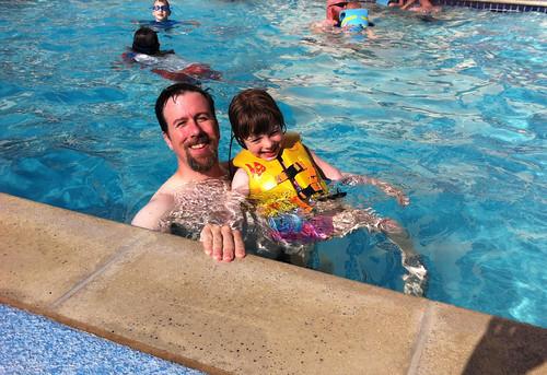 Taking a Break at Hotel Pool