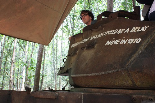 me in M41 tank destroyed by a mine in the Vietnam War