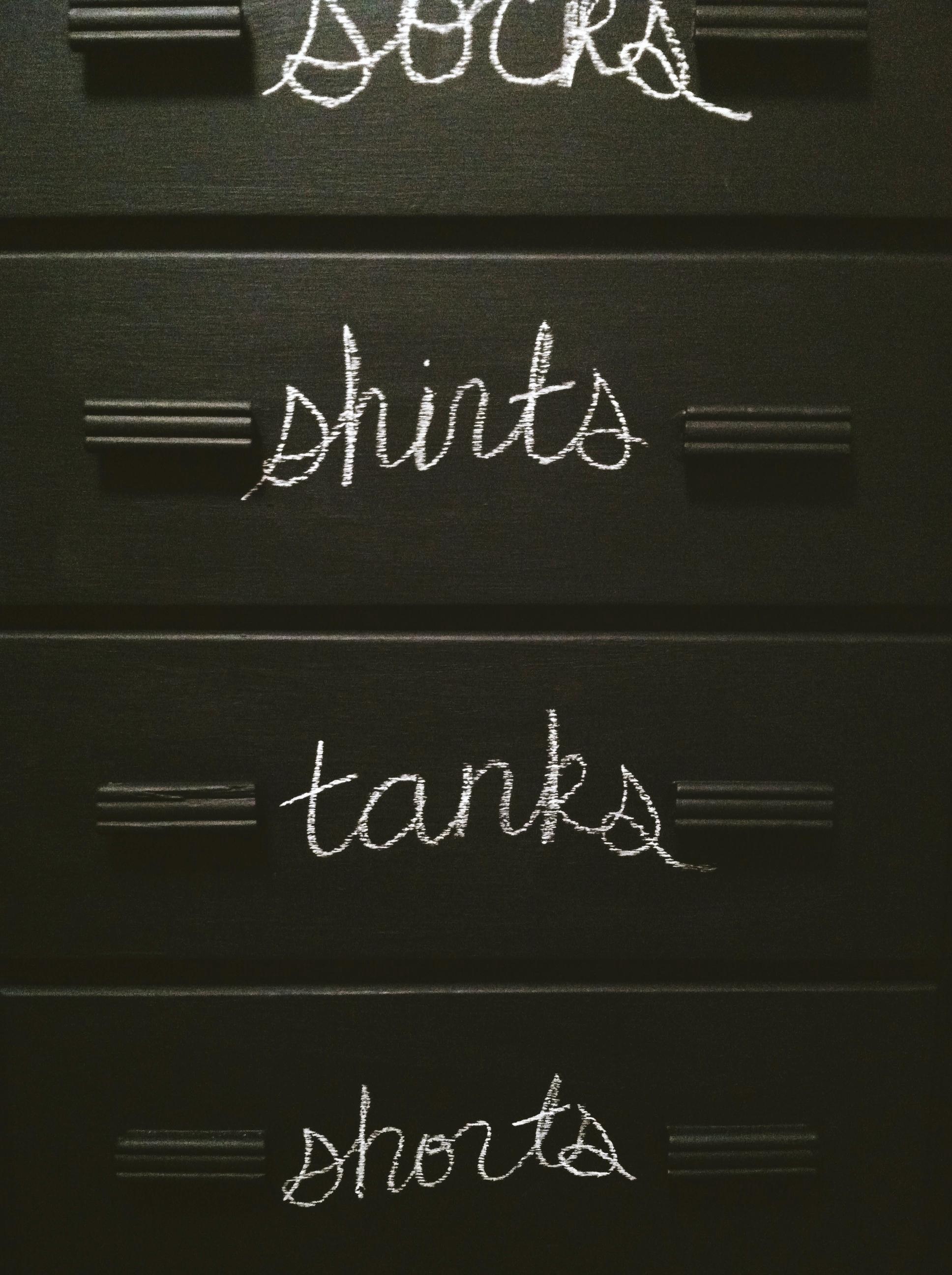 chalkboard dresser restyle