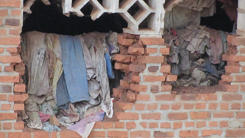 Clothes and remnants of those that died inside the church and compound.