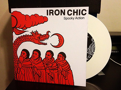 "Iron Chis - Spooky Action 7"" - European Tour Version, White Vinyl (/140) by Tim PopKid"