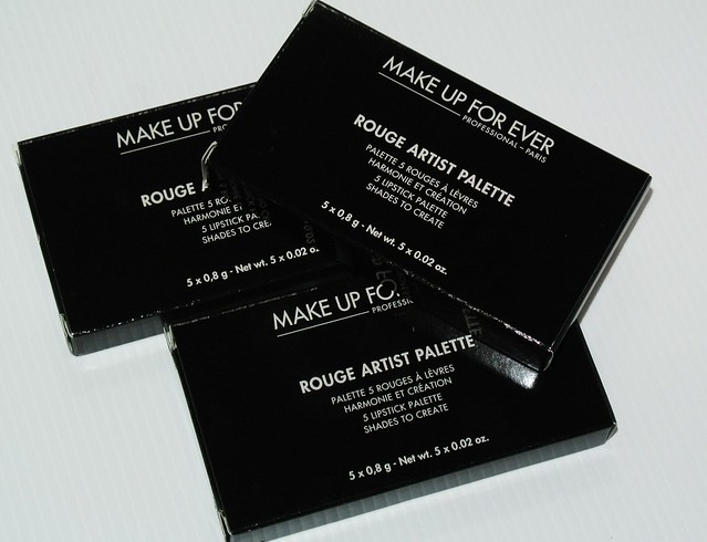 Here's the 3 palettes I received from MUFE Singapore: