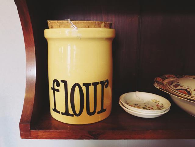 vintage flour pot