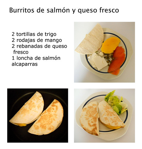 burritos de salmon y queso fresco