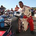 Herschel Walker poses with Mario Andretti after his 2-seater ride in Sonoma