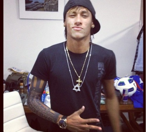 neymar_tatuaje_Santos