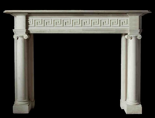 Grecian fire surround with columns by stephencritchley