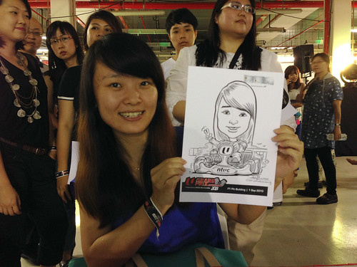caricature live sketching for NTUC U Grand Prix Experience 2013 - 36