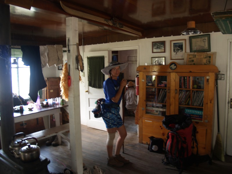 Inside the San Antonio Ski Hut