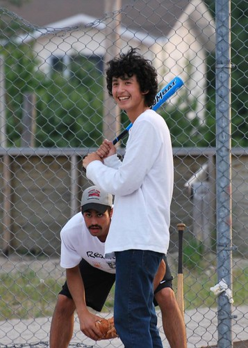 Batter up as the Thunderwolves enjoy time at Whitesands First Nation