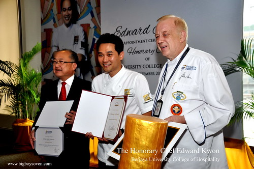 The Honorary Chef Edward Kwon of Berja