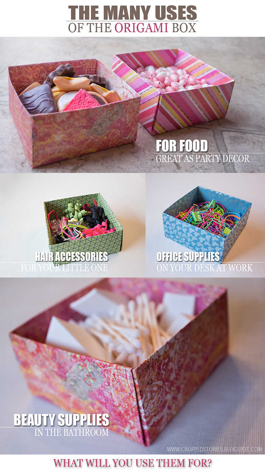 How to make Origami Boxes via Cropped Stories