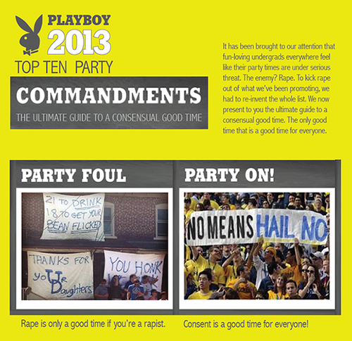 Screenshot of the site that reads: Consent is the first thing required for a good party.