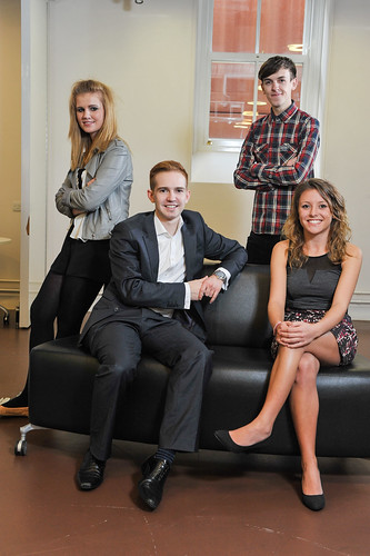 The Professional Editor, John Macleod (front left) with his team (clockwise from top left) Office Manager Jess McCulloch, Photographer Nick Eagle and Senior Journalist Charlotte Corner.